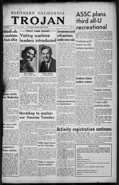 Southern California Trojan, Vol. 35, No. 7, July 19, 1943