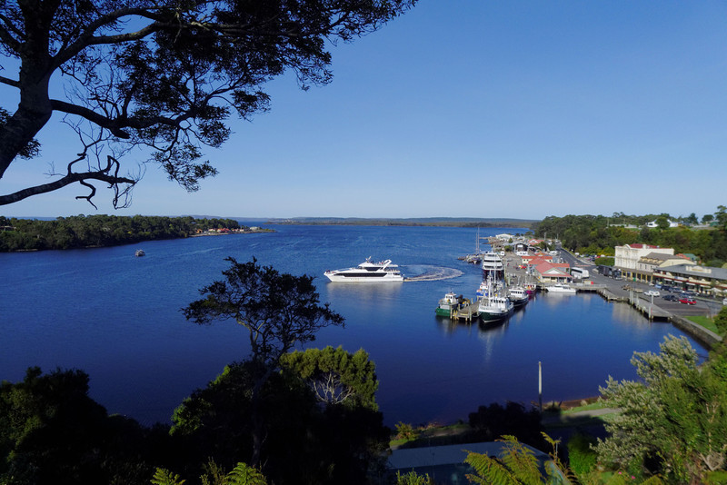 The Lady Jane Franklin heading out on her daily tour up the Gordon River and around Macquarie Harbour.