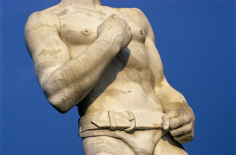 Athlete Statue at Foro Italico (Stadio dei Marmi) in Rome, Italy