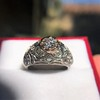 0.94ctw Vintage Old European Cut Diamond Dome Ring, Center OEC (GIA .59ct G SI2) 7