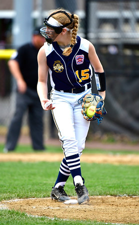 7/25/2019 Mike Orazzi | Staff Connecticut's Judy Tarczali (15) during the Eastern Regional Softball Tournament at Breen Field in Bristol on Thursday.