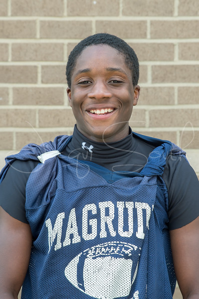 8/10/2017 - Magruder sophomore strong safety Jeremiah Baxter, Sentinel Football Preview, Photo Credit: Jacqui South