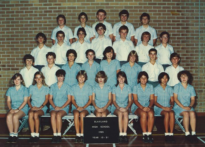 Blaxland High Year 10 1985 - 10S1