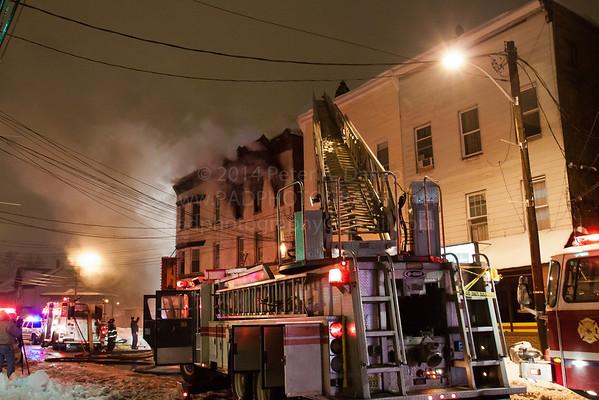 Paterson NJ 3rd Alarm, 581-583 River St, 02-13-14