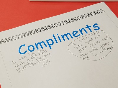 It's Raining Compliments in Fourth Grade Writing Class