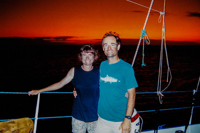 Bob and Audrey, Galapagos Islands, 1993