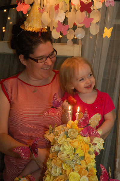Time to sing happy birthday.  Niamh loved all the attention.