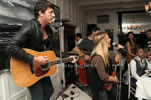Jon Stone and  Kristy Osmunson of Band American Young photo by Rob Rich/SocietyAllure.com © 2014 robwayne1@aol.com 516-676-3939