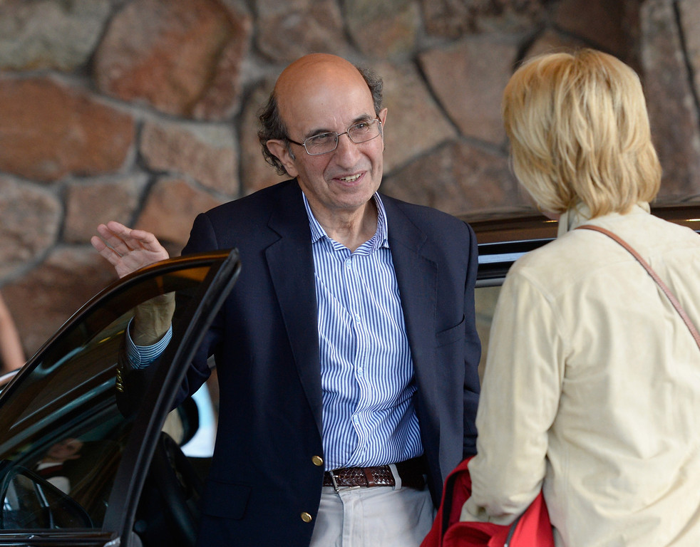 . Joel Klein, former commissioner of New York City public schools, arrives for the Allen & Co. annual conference on July 9, 2013 in Sun Valley, Idaho. The resort will host corporate leaders for the 31th annual Allen & Co. media and technology conference where some of the wealthiest and most powerful executives in media, finance, politics and tech gather for a weeklong meetings which begins Tuesday. Past attendees included Warren Buffett, Bill Gates and Mark Zuckerberg.  (Photo by Kevork Djansezian/Getty Images)