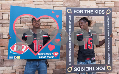 7/27/17 Dairy Queen Miracle Treat Day with John Tyler and Robert E. Lee Football Teams by Sarah A. Miller and Chelsea Purgahn