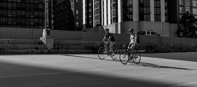 Biking through light