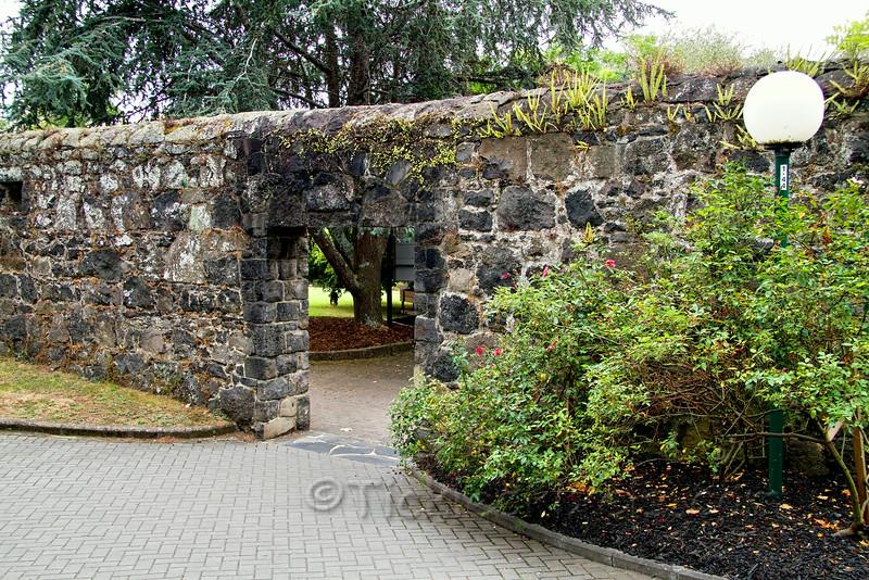 Albert Barracks Wall at the University of Auckland