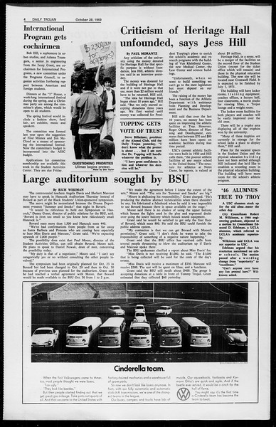 Daily Trojan, Vol. 61, No. 32, October 28, 1969