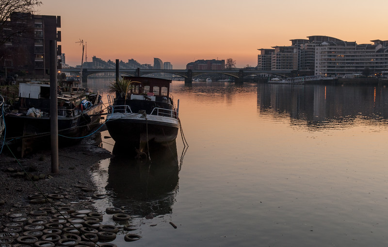 Sunset at Battersea Riverside