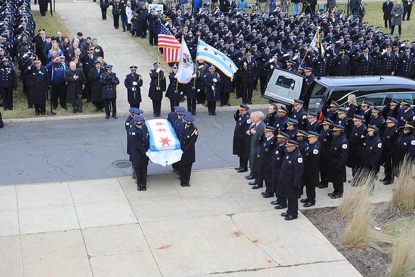 Funeral For Chicago Police Officer Eduardo Marmolejo Badge # 10101