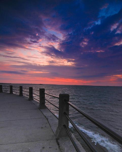 Sunset on The Battery, Charleston