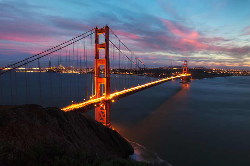 Golden Gate timeblende san francisco landscape photography red clouds sunset.jpg