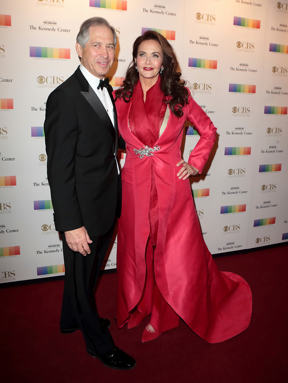 . Robert A. Altman, left, with his wife Lynda Carter attend the 39th Annual Kennedy Center Honors at The John F. Kennedy Center for the Performing Arts on Sunday, Dec. 4, 2016, in Washington, D.C. (Photo by Owen Sweeney/Invision/AP)