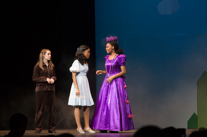 """Addaperle and Dorothy -- """"The Wiz"""", Montgomery Blair High School spring musical, March 26, 2017"""