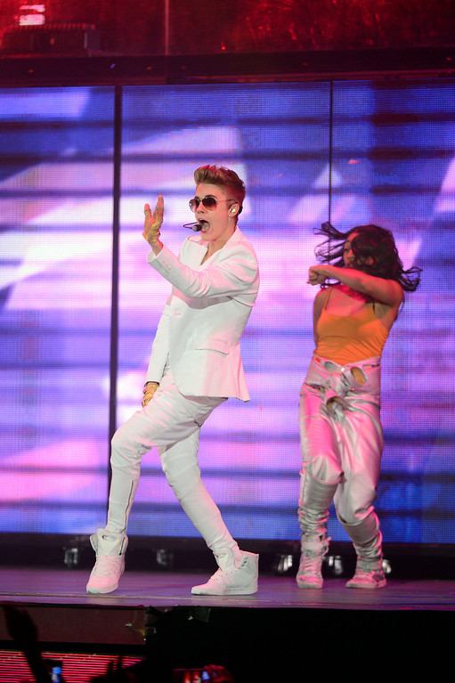 . Justin  Bieber performs to a sold out crowd at Pepsi Center during his  \'Believe\' Tour stop in Denver. John Leyba, The Denver Post