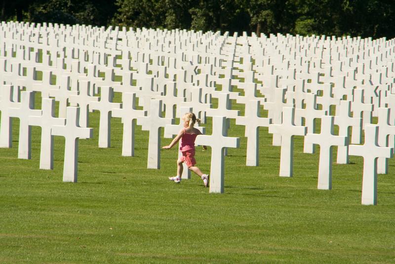 The American cemetery near Bastogne.