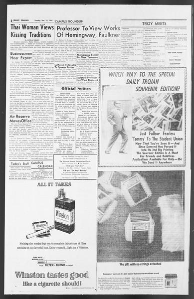 Daily Trojan, Vol. 54, No. 56, December 18, 1962