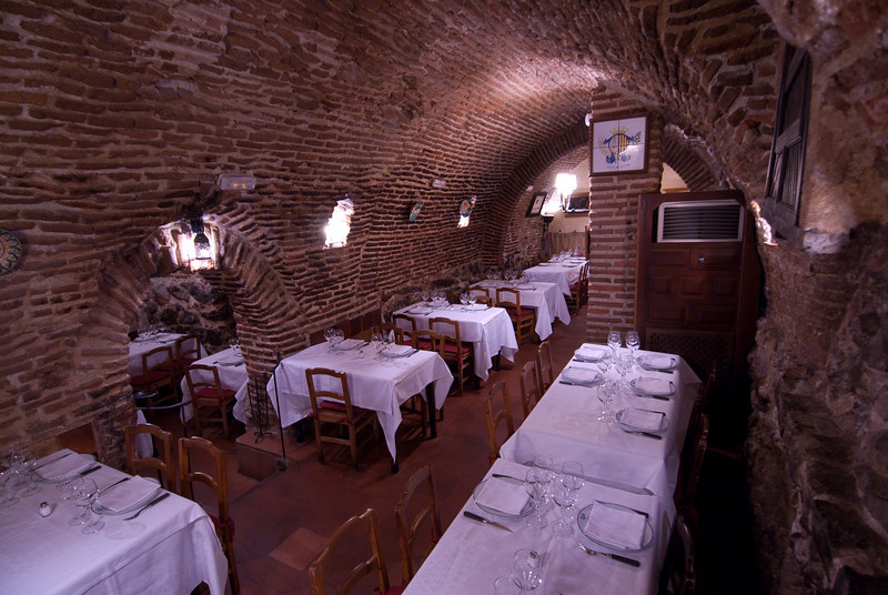 Interior details at Botin Restaurant in Madrid, Spain