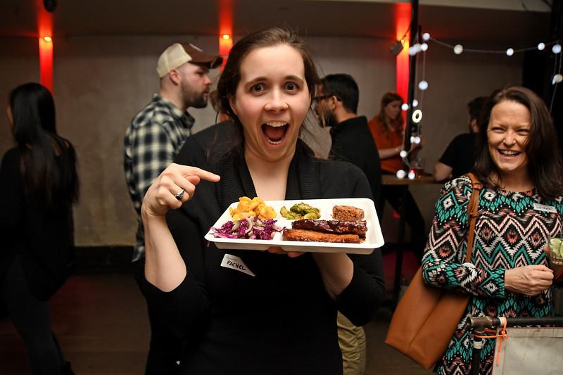NEW YORK - FEBRUARY 28, 2019: Vegan Drinks Event on February 28, 2019 at Solas in Manhattan, New York. (Photo by Lukas Maverick Greyson)