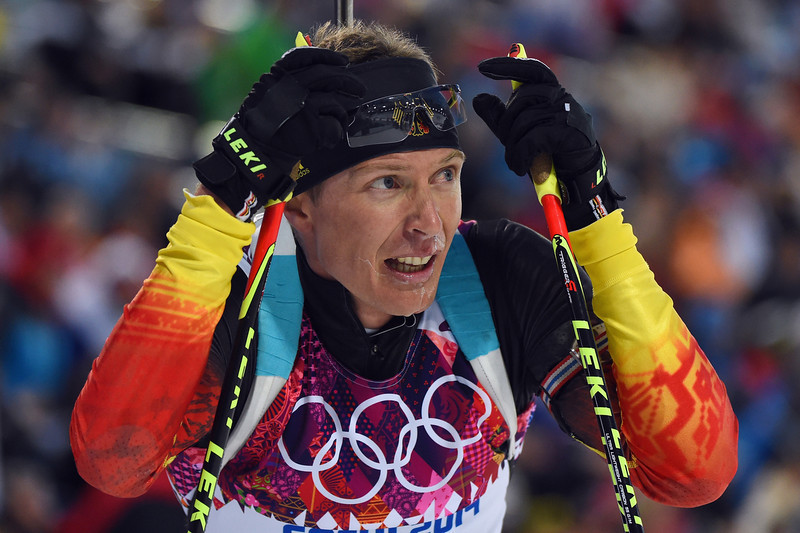 . Andreas Birnbacher of Germany looks on after competing in the Men\'s Individual 20 km during day six of the Sochi 2014 Winter Olympics at Laura Cross-country Ski & Biathlon Center on February 13, 2014 in Sochi, Russia.  (Photo by Harry How/Getty Images)