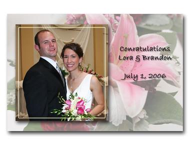 Lora & Brandon's Wedding - July 1, 2006