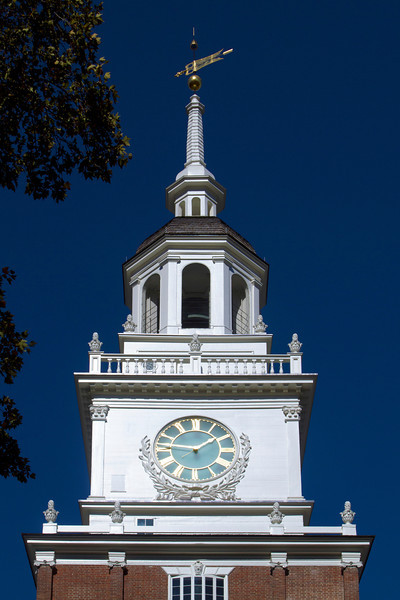 The clock-tower of Independence Hall