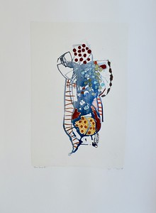 "Deco Series III-Mackey, painting on 22""x30"" paper"