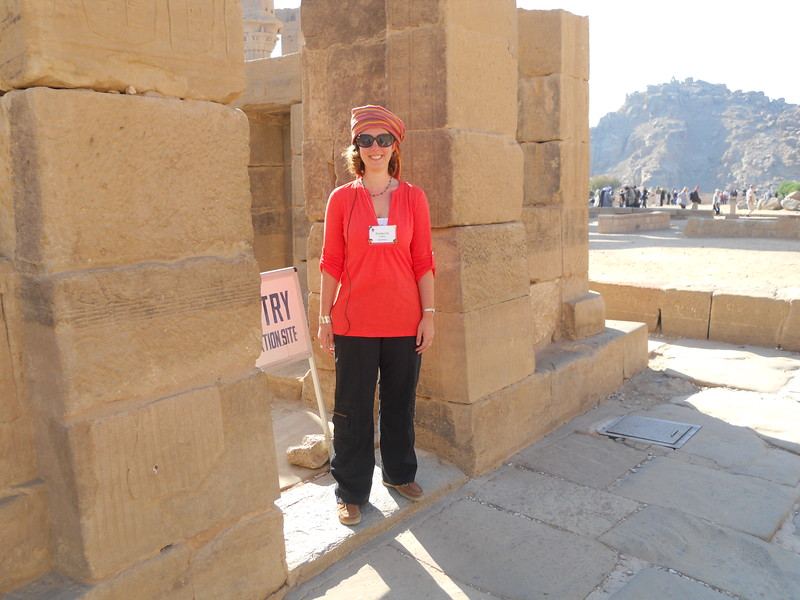 Kimberly Collins at Philae Temple -- Kimberly Collins
