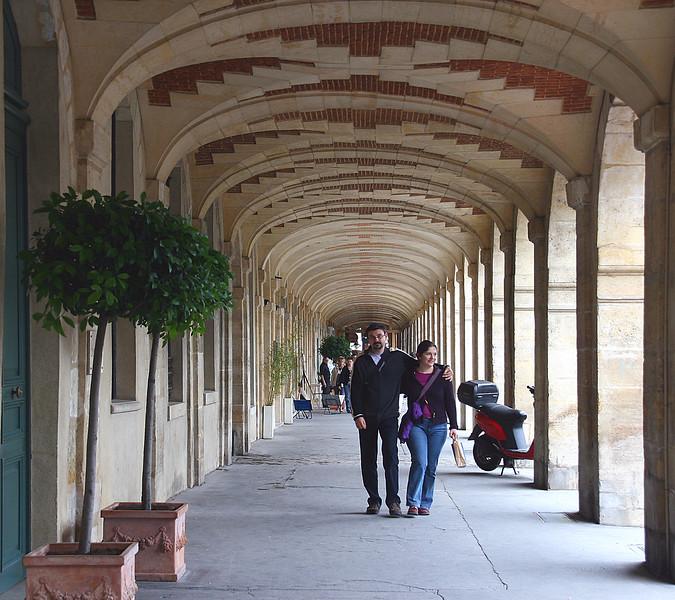 Strolling the walkways