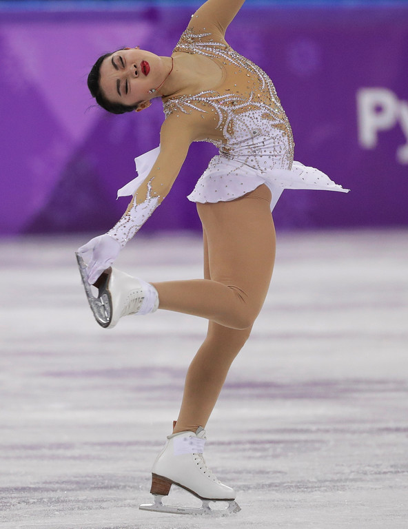 . Karen Chen of the United States performs during the women\'s short program figure skating in the Gangneung Ice Arena at the 2018 Winter Olympics in Gangneung, South Korea, Wednesday, Feb. 21, 2018. (AP Photo/David J. Phillip)