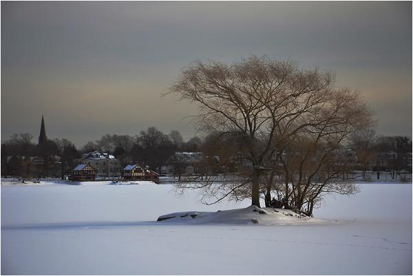 Jamaica Pond. Winter