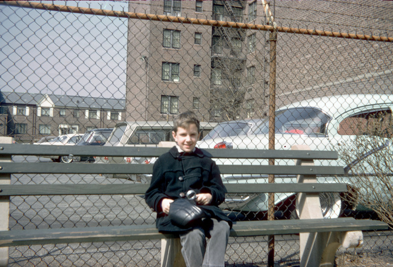 richard with magnifying glass on benches.jpg