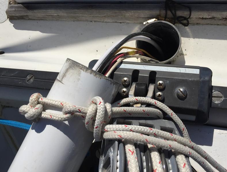 Butt end of radar pole
