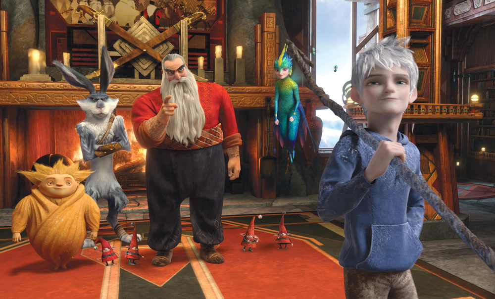 ". This film image released by Paramount Pictures shows a scene from the film ""Rise of the Guardians,\"" an adventure with Santa Claus, the Easter Bunny and other mythical beings battling an evil spirit. The film was nominated for a Golden Globe for best animated film on Thursday, Dec. 13, 2012. The 70th annual Golden Globe Awards will be held on Jan. 13. (AP Photo/Paramount Pictures, DreamWorks Animation )"