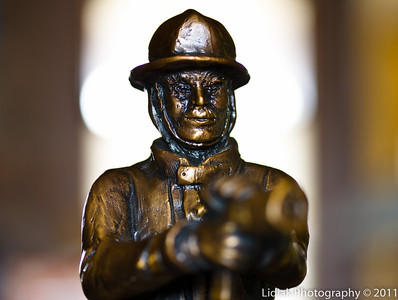 9/11 Memorial Miniature Fireman by Artist Colette Pitcher
