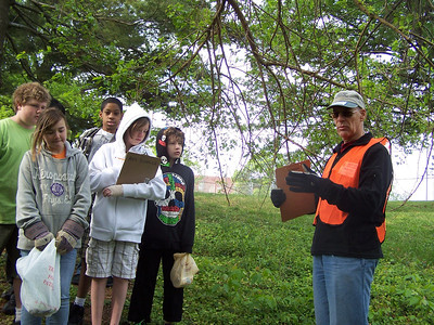 4.27.12 Watershed Scavenger Hunt at Arbutus Middle School in Arbutus