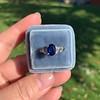 2.08ctw Sapphire and Diamond Ring, GIA No-Heat 5