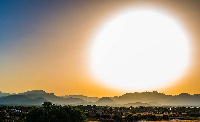 Sun above Mallorca