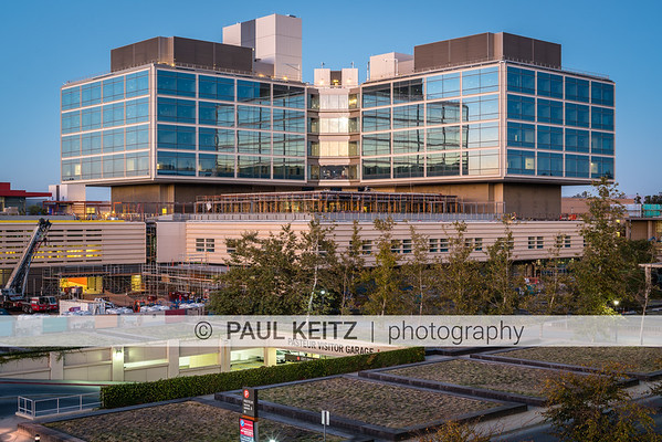 New Stanford Hospital Evening Images