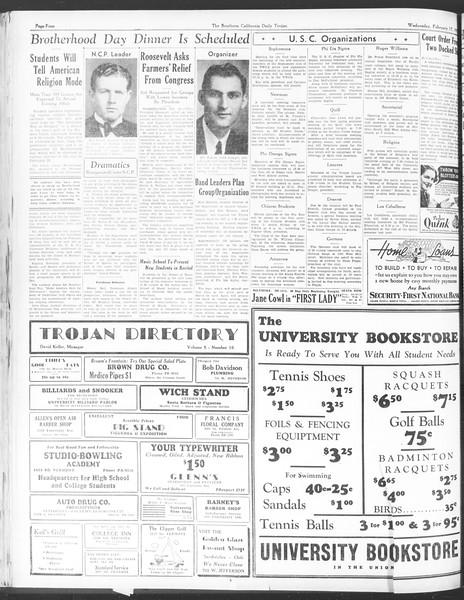 Daily Trojan, Vol. 28, No. 81, February 17, 1937