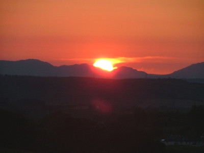 Sunset over Eaglesham - 11 July 2005