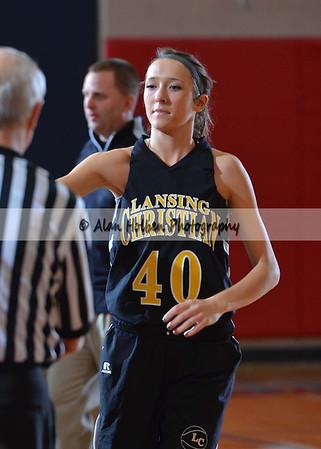 Girls varsity basketball Lansing Christian at Mason