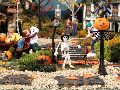 Pam's Halloween Village