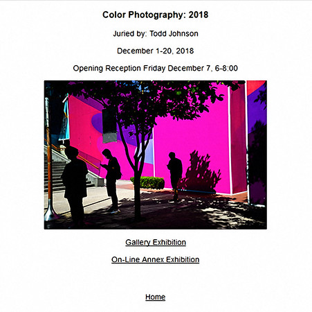 "30.11.2018 -   ""Color Photography 2018"" exhibition"