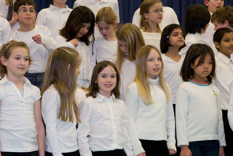4th Grade Chorus (28 Feb 2008) (Image taken with Canon EOS 20D at ISO 800, f5.0, 1/60 sec and 62mm)